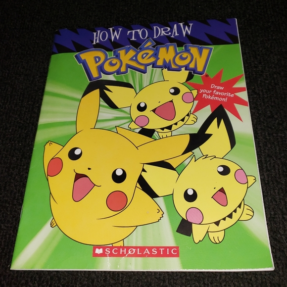 Scholastic How To Draw Pokemon art book